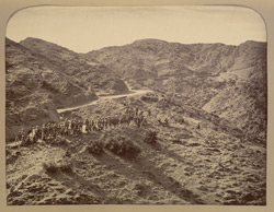 Ascent in the [Khyber] Pass showing Mackeson's causeway and approach.